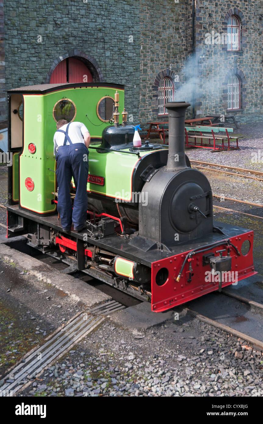 Wales, Snowdonia National Park, Llanberis Lake Railway, steam locomotive - Stock Image