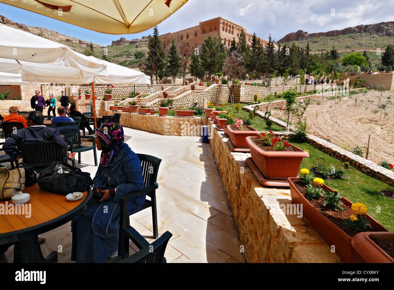 Deyr ul-Zafaran monastery visitors, Eastern Turkey - Stock Image