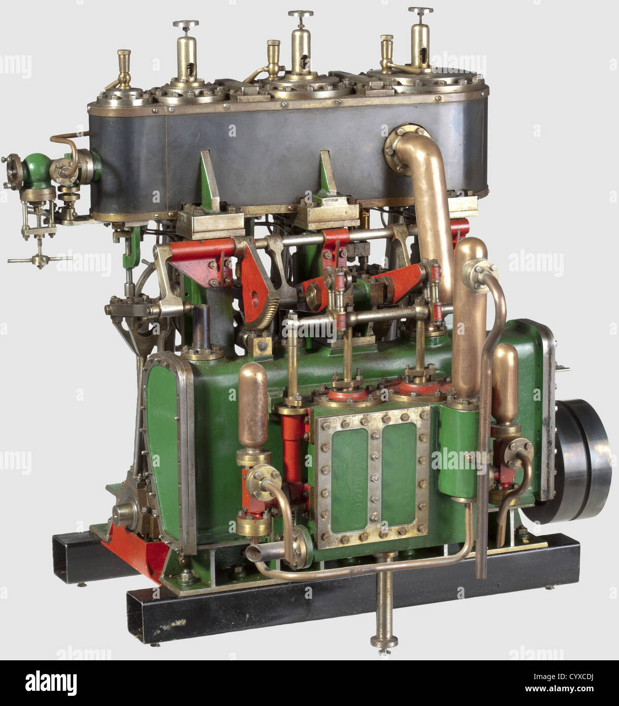 A very well detailed model triple expansion vertical reversing condensing marine engine, Built by H. Wall 1970 ¦S.D.S.M.E - Stock Image