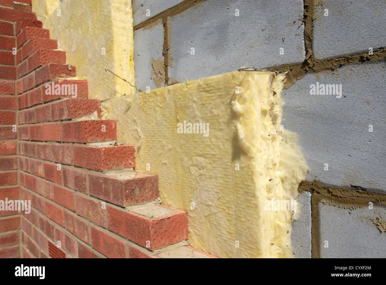 New Insulated Cavity Wall Detail Stock Photo 51599036 Alamy