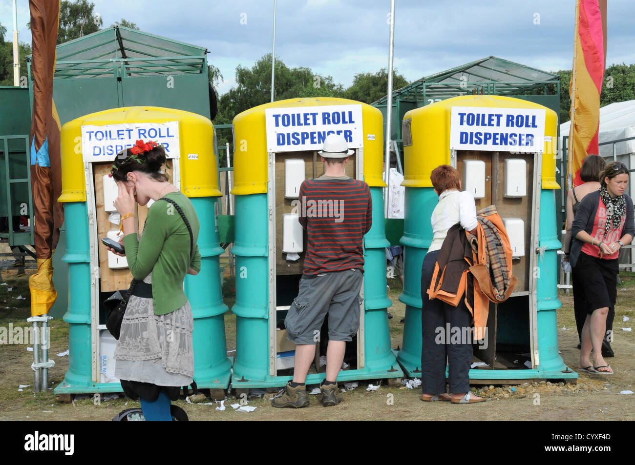 Latitude Festival, Organic Toilet, Paper Dispenser. Great Britain ...