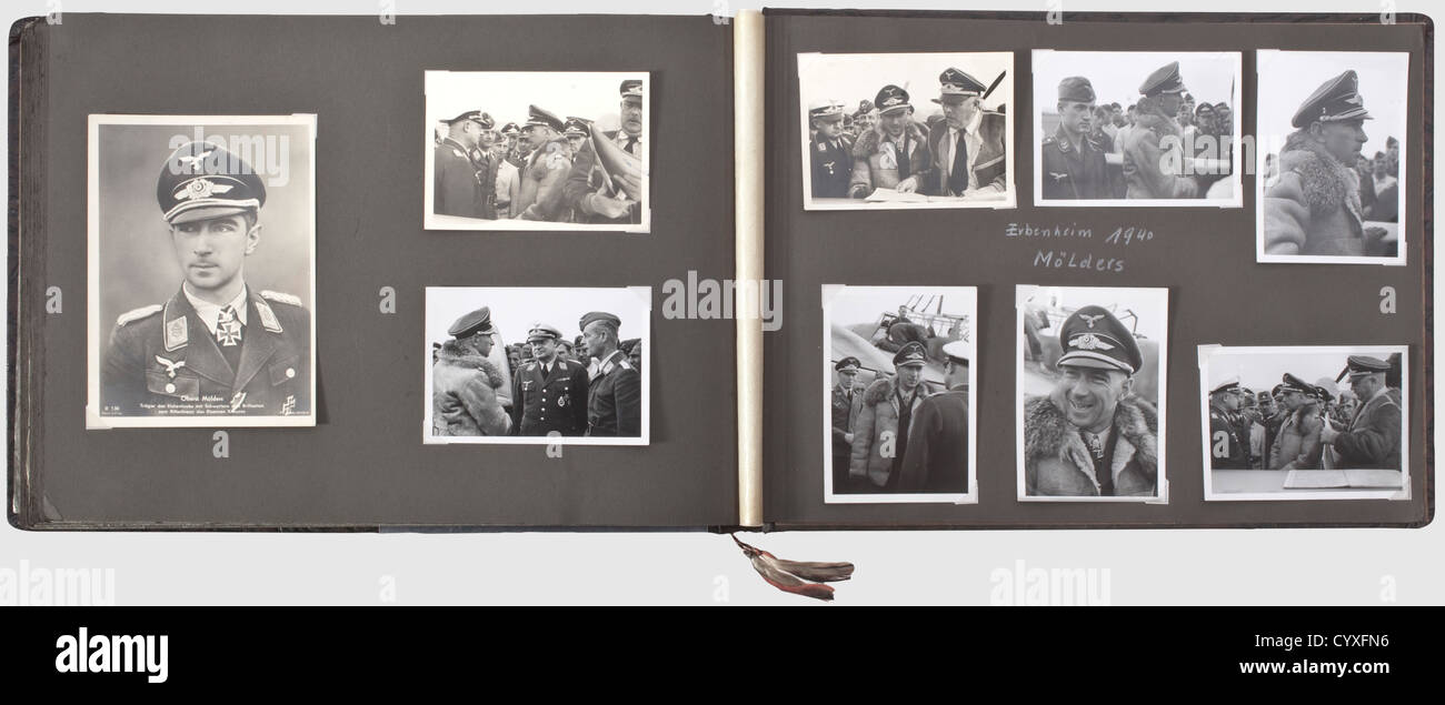 A photo album of the tTime of service and a letter opener, of a Luftwaffe member of the Condor Legion Large format Stock Photo