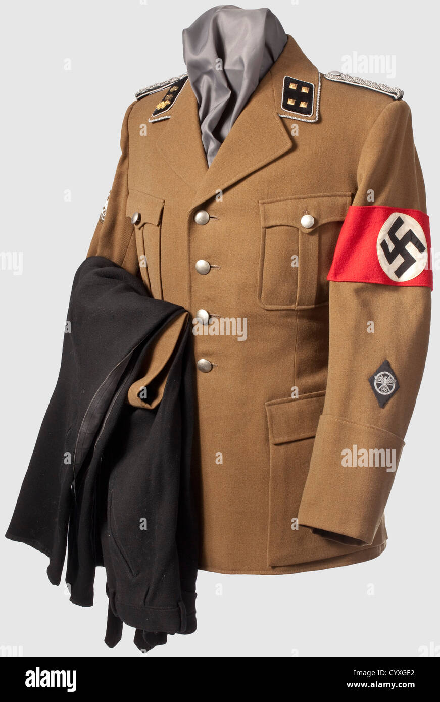 A service uniform for a medical doctor Staffelführer of the NSKK, of the motor standarte 45, Jena/Thuringia - Stock Image