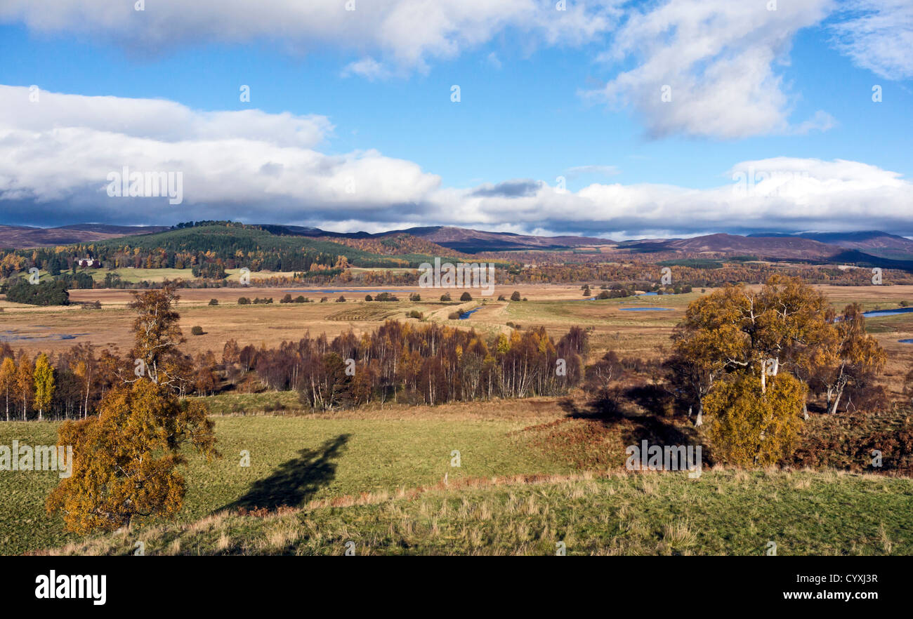 View over the Inch Marches area north and west of the B970 & east of B9152 roads in Highland Scotland as seen - Stock Image