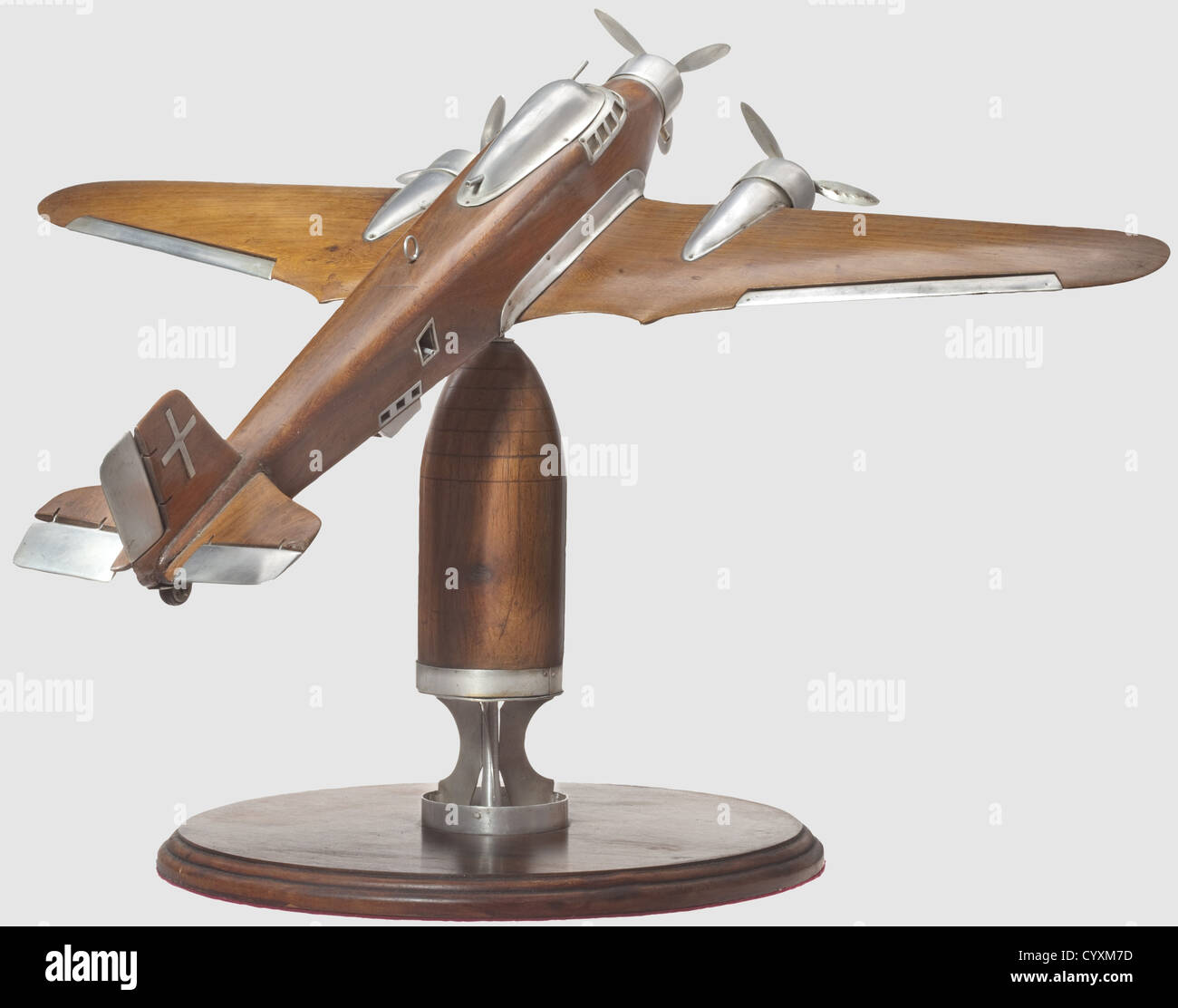 Savoia-Marchetti S.M. 79-II 'Sparviero' (Sparrow Hawk), Second World War A fine and detailed African hardwood - Stock Image