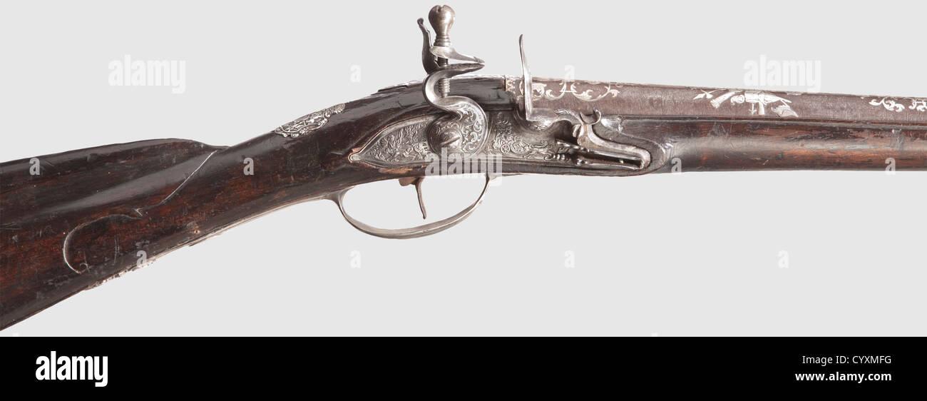 An important Russian hunting flintlock gun, Tula, master