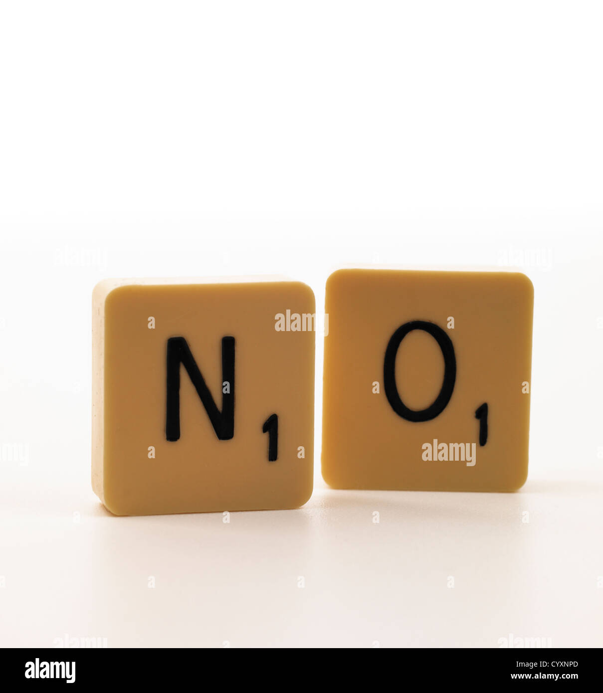 no scrabble tiles on white background stock photo 51604293 alamy