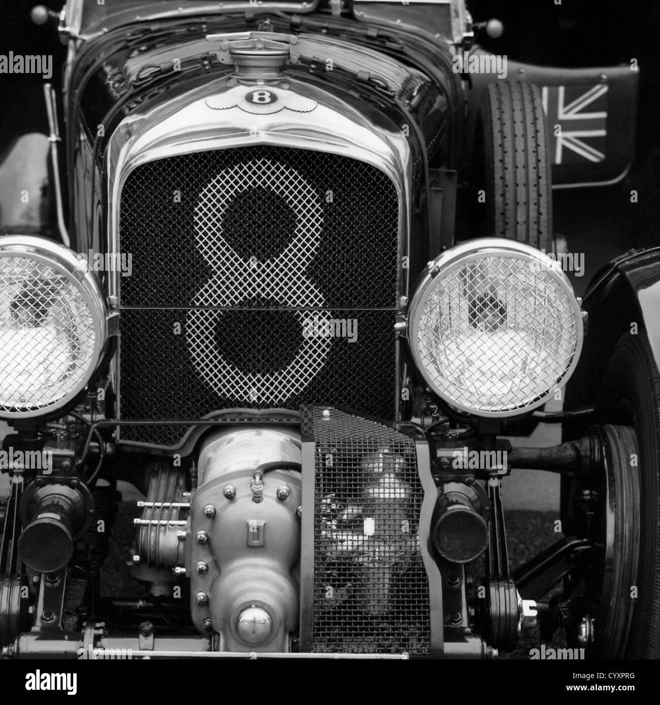 1928 vintage Blower Bentley Le Mans race car - Stock Image
