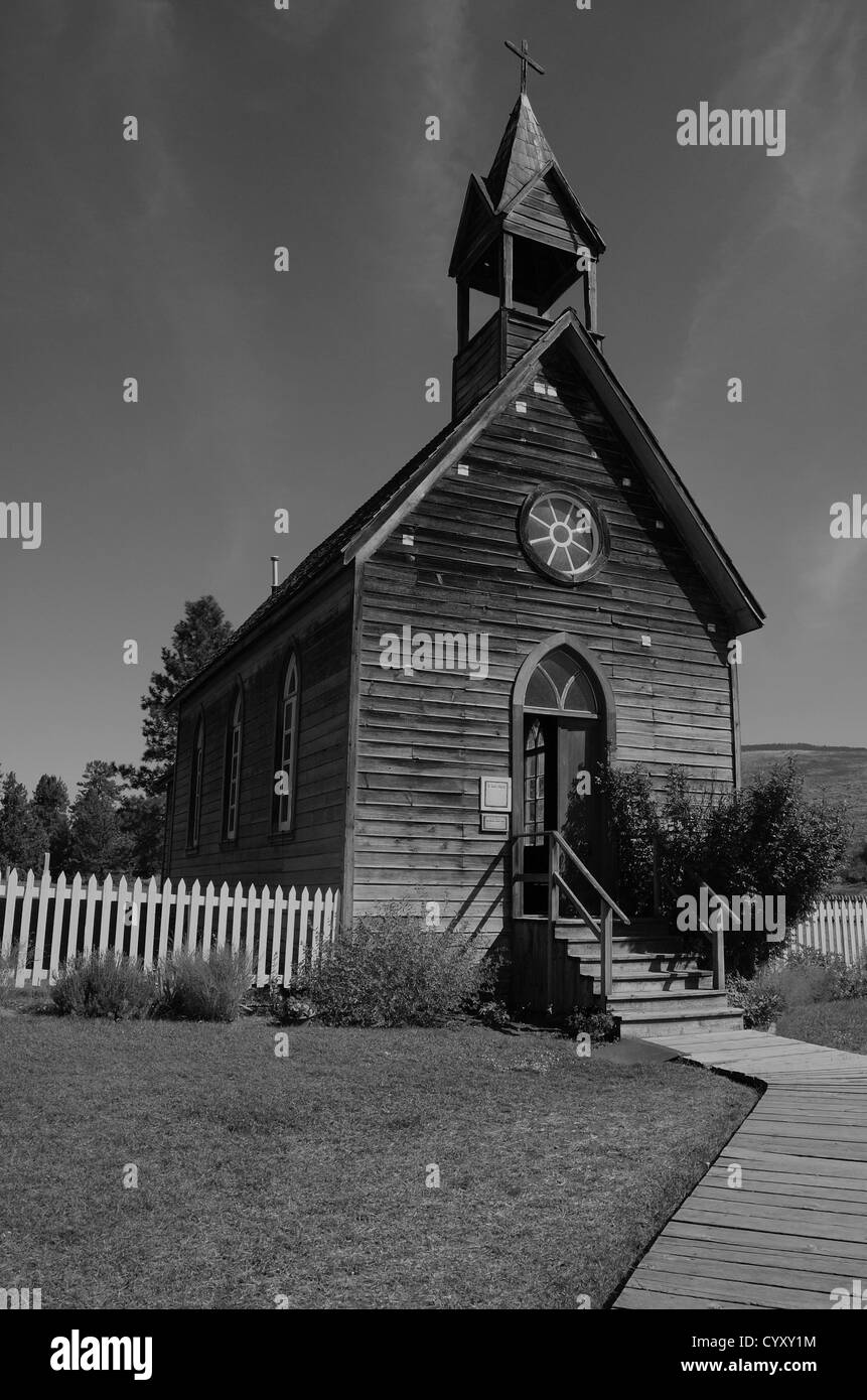 St. Anne's Church, O'Keefe Ranch, in Vernon, British Columbia, Canada - Stock Image