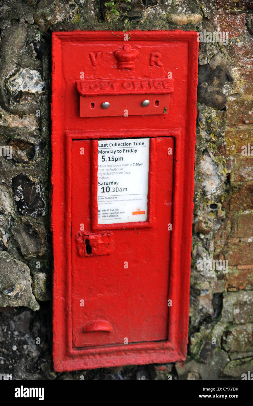 A royal mail postbox decommissioned and blocked up - Stock Image