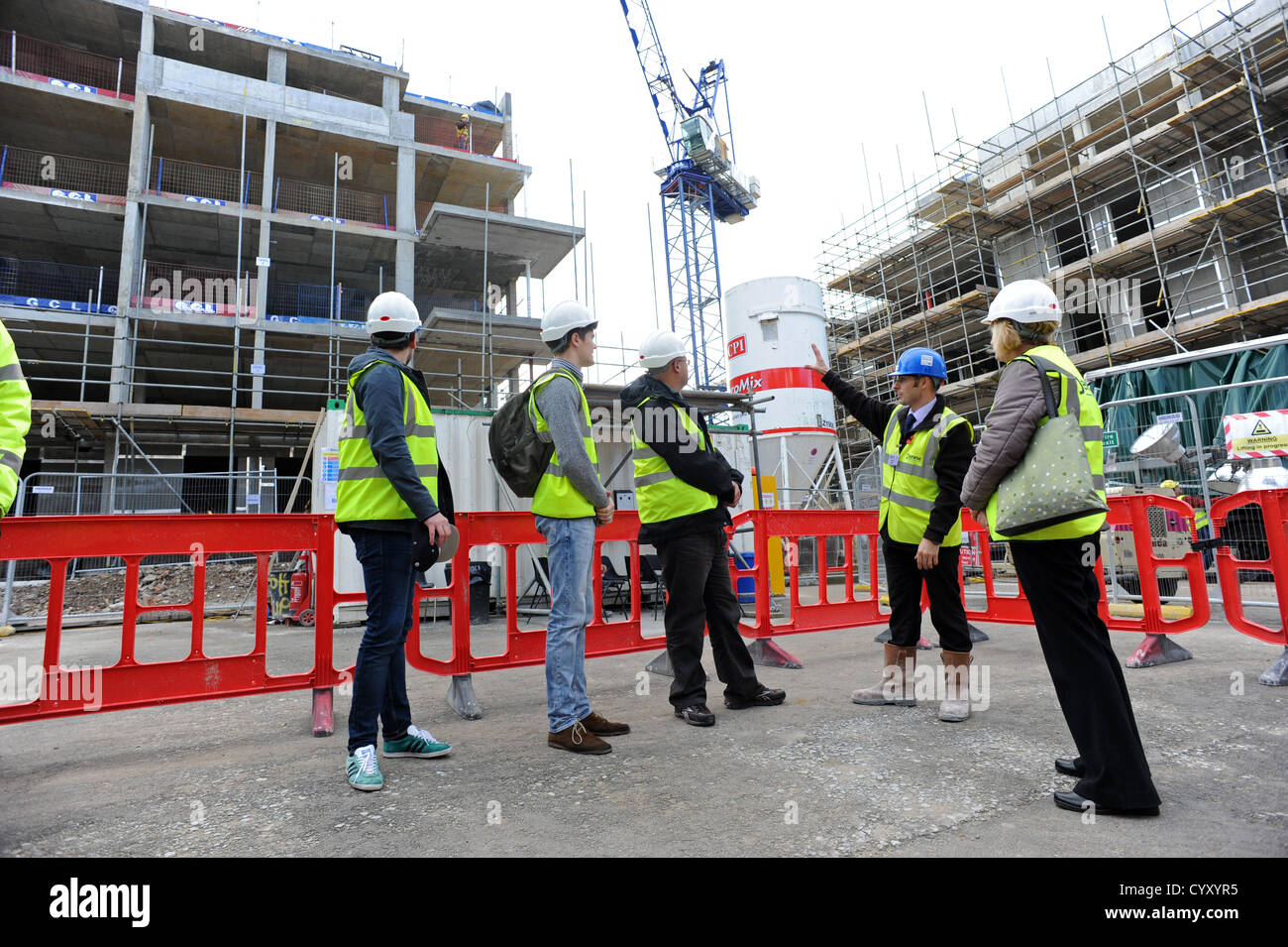 Members of the public to visiting a Denne working construction site in Brighton during an Open Door event weekend - Stock Image