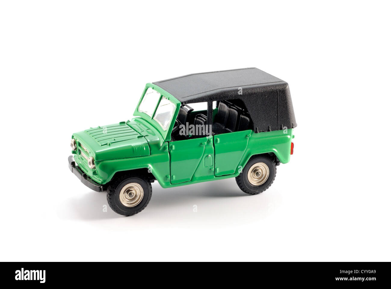 Collection scale model the Off-road car on a light background - Stock Image