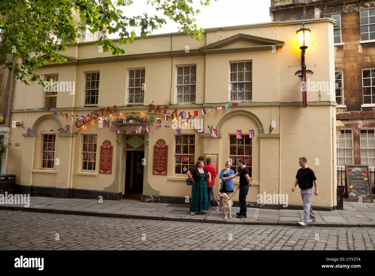 The Crystal Palace pub, Abbey Green, Bath Somerset UK - Stock Image