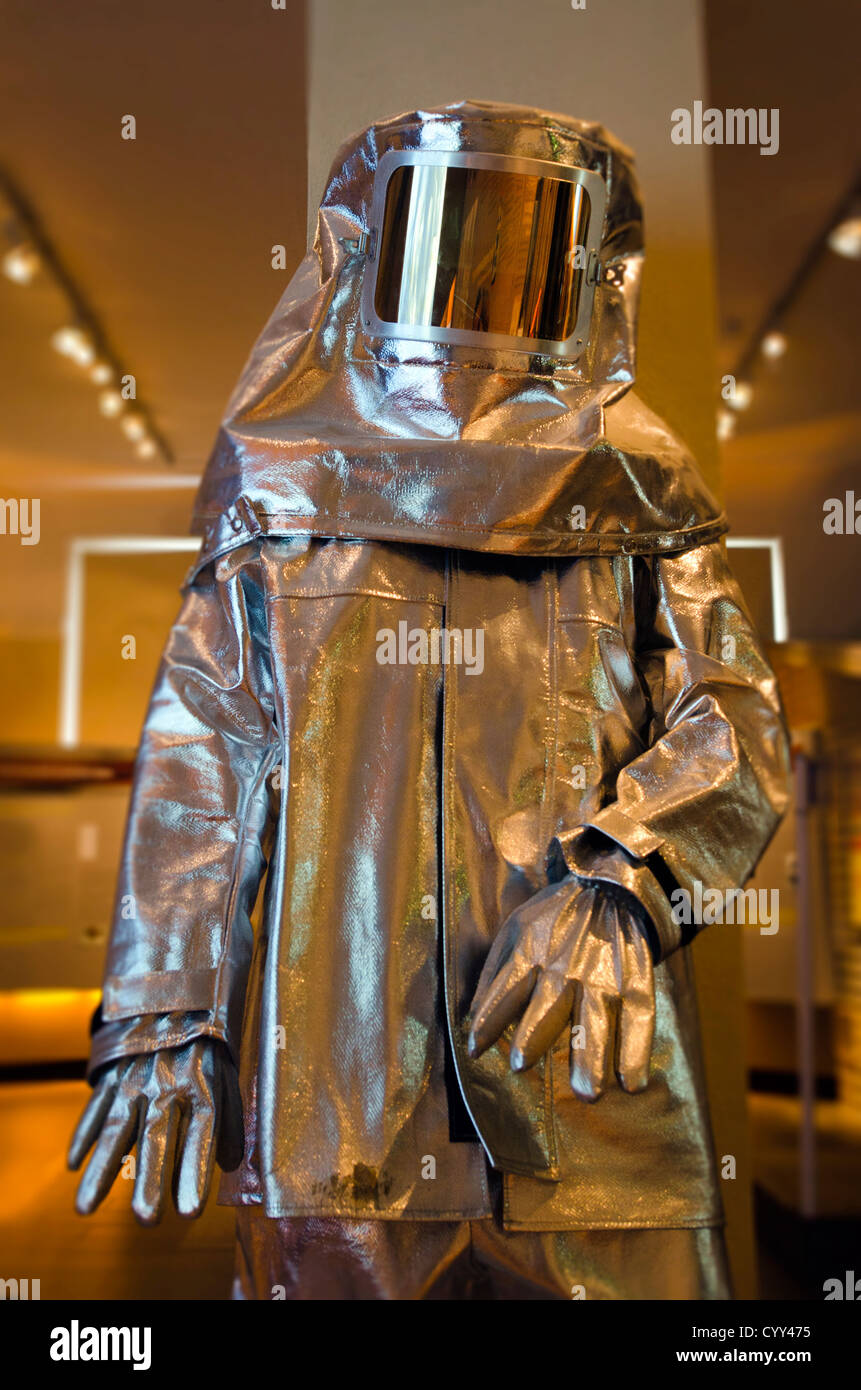 A full fire proximity suit. - Stock Image