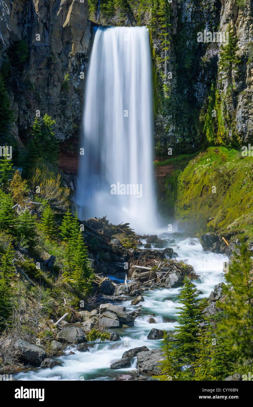 Tumalo Falls, Deschutes National Forest, near Bend, Oregon. - Stock Image