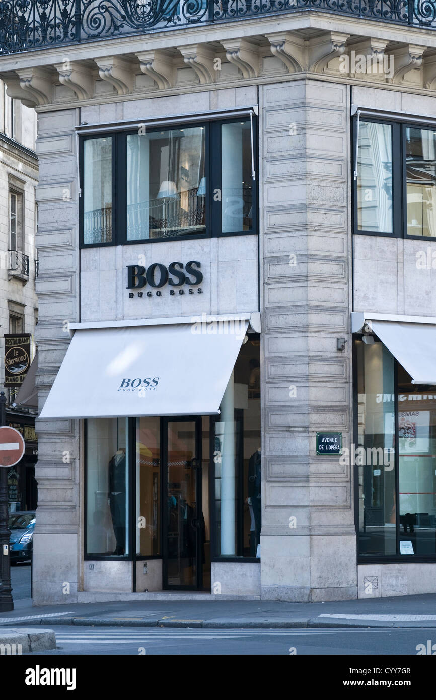 hugo boss store stock photos hugo boss store stock images alamy. Black Bedroom Furniture Sets. Home Design Ideas