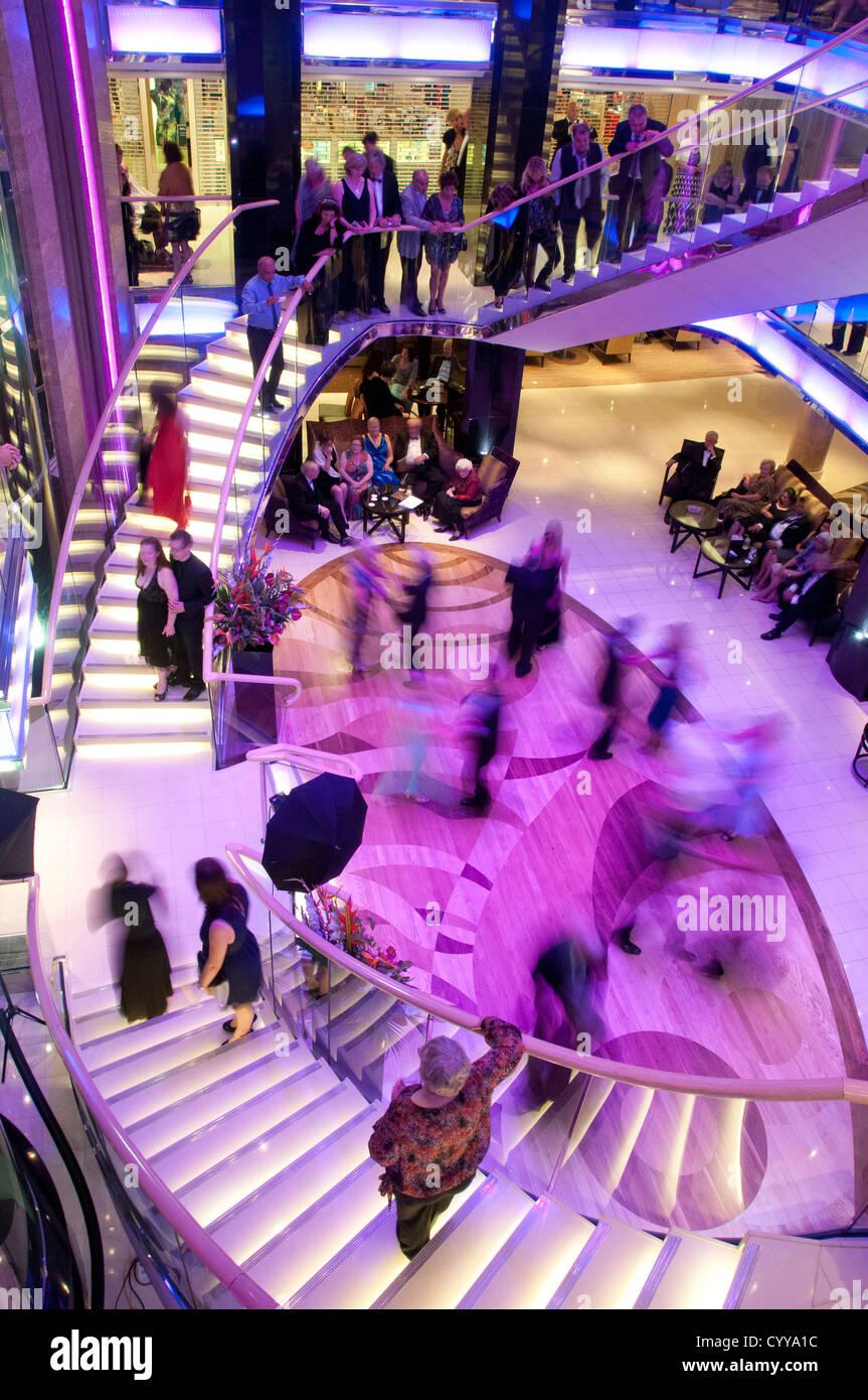 Atrium of P&O Azura - Stock Image