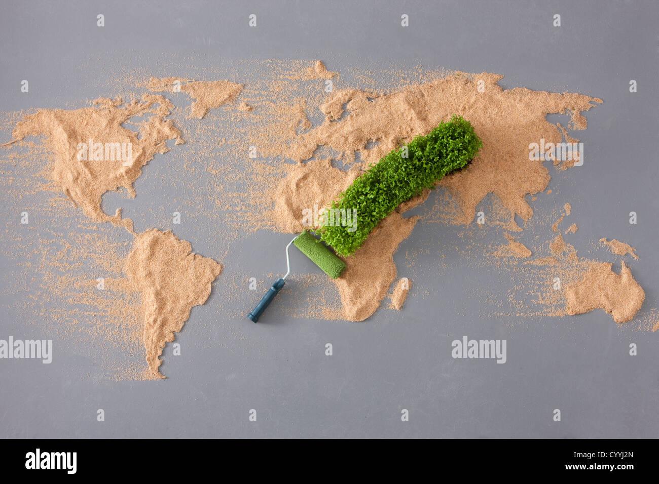 Creative world map stock photo 51623341 alamy creative world map gumiabroncs Choice Image