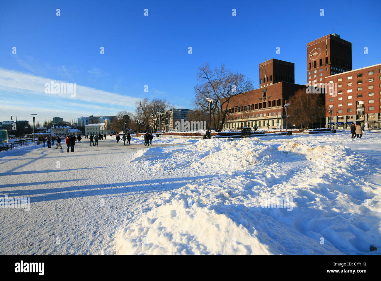 Winter and snow in Oslo Stock Photo