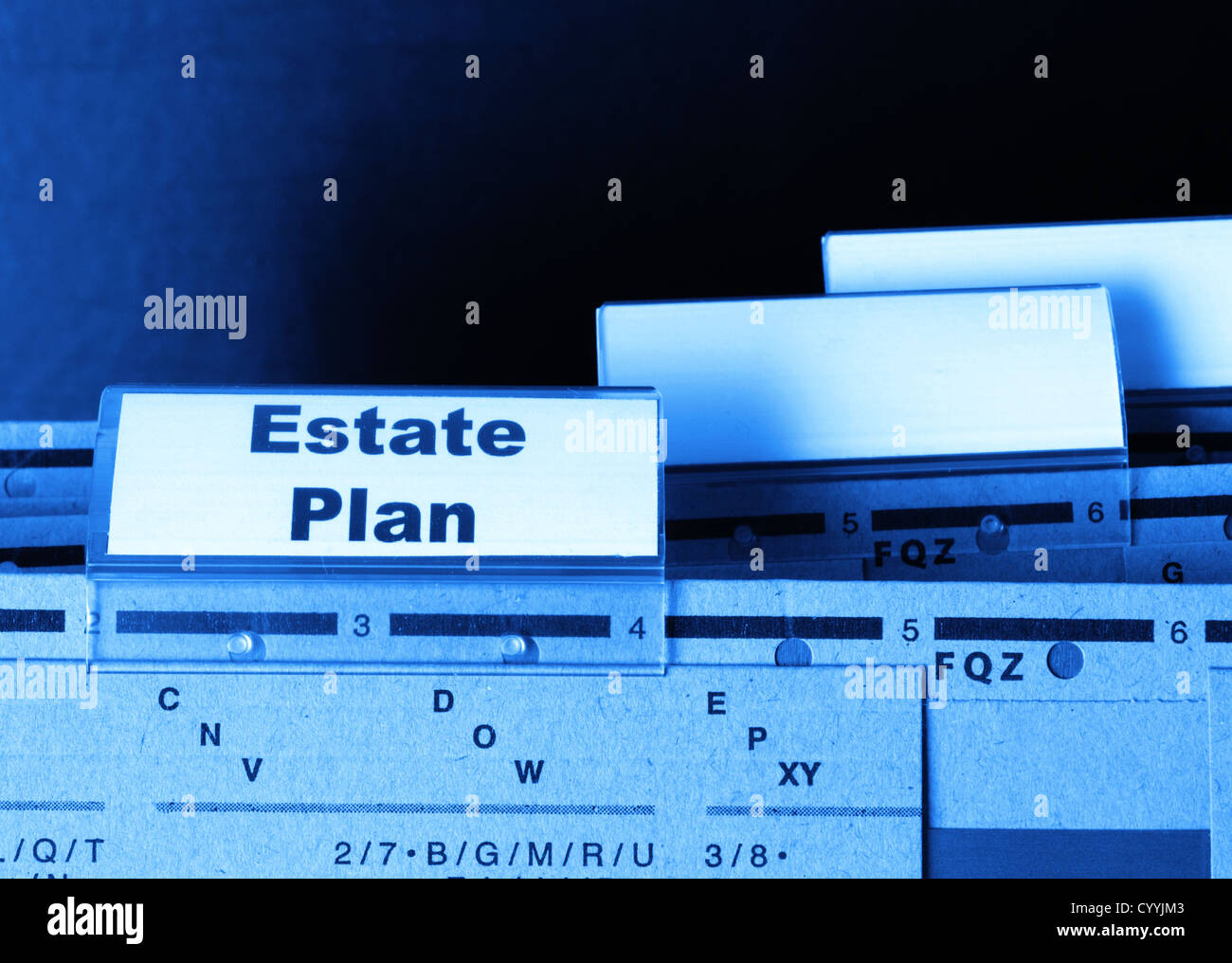real estate plan on business folder showing buy a house concept - Stock Image