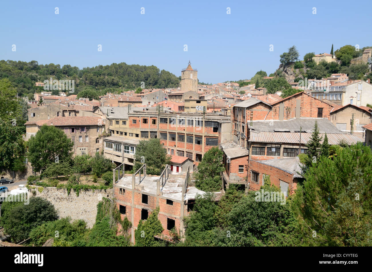 Abandoned Leather factory or Leather Factories at Barjols Var Provence France - Stock Image