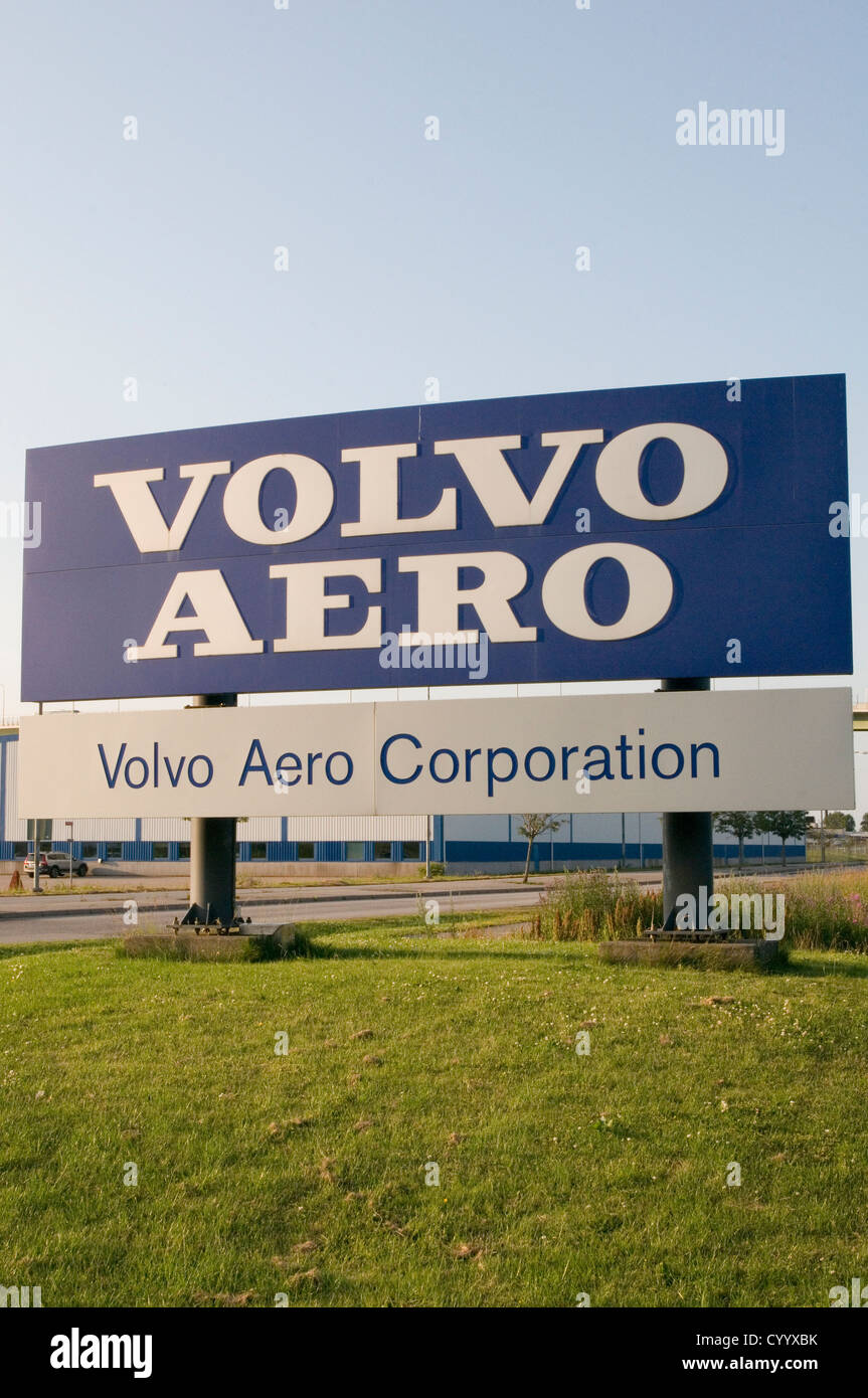volvo aero factory in trollhattan sweden cooperation  swedish manufacturing - Stock Image