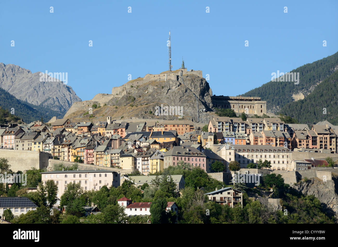 Town Citadel and Vauban Fortifications Briançon Hautes-Alpes France - Stock Image