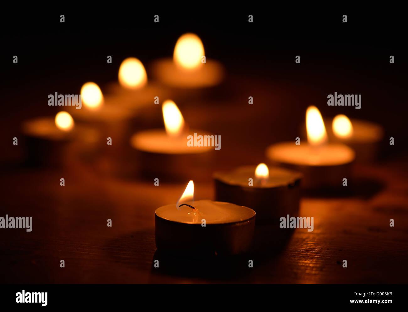 candlelight - Stock Image