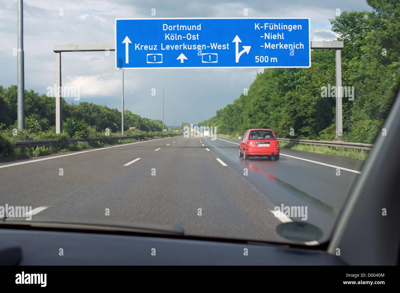 A1 motorway woods