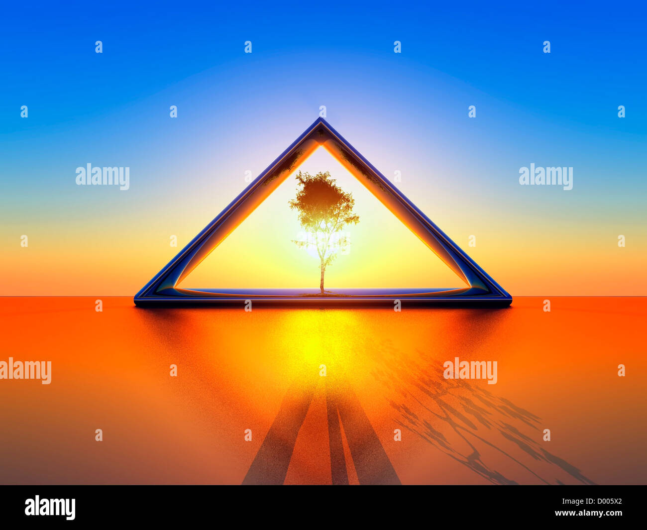 conceptual illustration of ecology - Stock Image