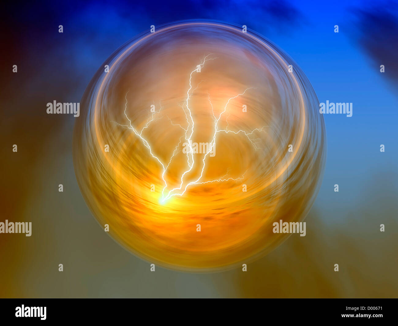 a conceptual illustration of energy - Stock Image