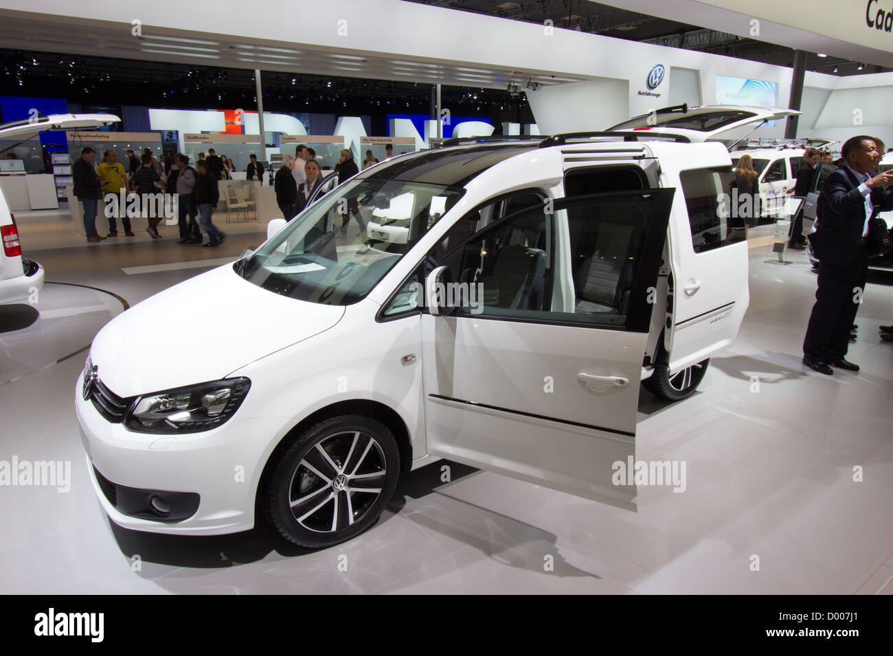 New Volkswagen Caddy at the International Motor Show for Commercial Vehicles 2012 - Stock Image