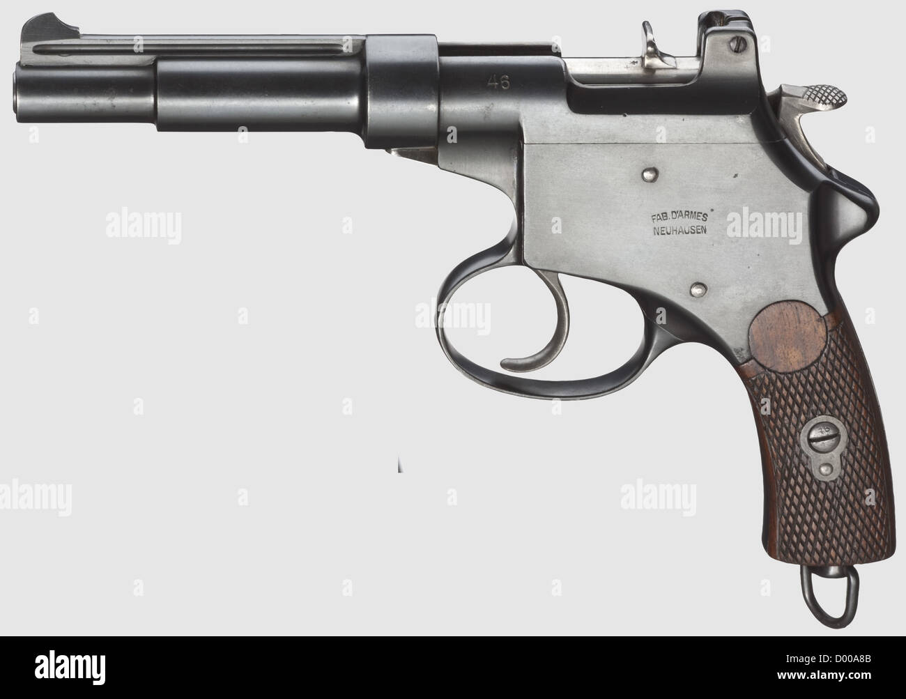 Mannlicher Mod. 1894, Swiss type, cal. 6.5 mm Mannlicher, no. 46. Matching numbers. Bright bore, barrel length 170 - Stock Image