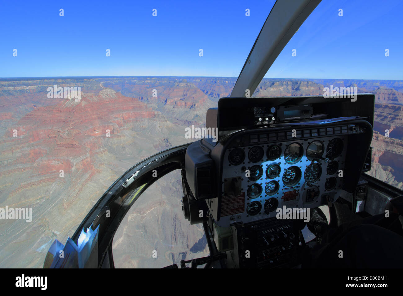 Experiencing the Grand Canyon from a helicopter. Grand Canyon, Arizona, USA - Stock Image