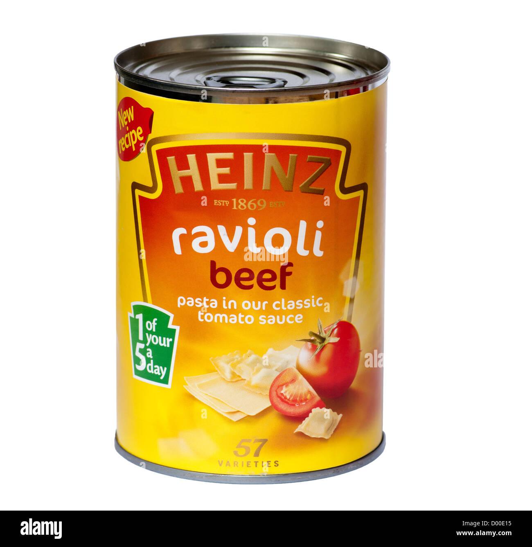 Tin Of Heinz Ravioli In Tomato Sauce - Stock Image