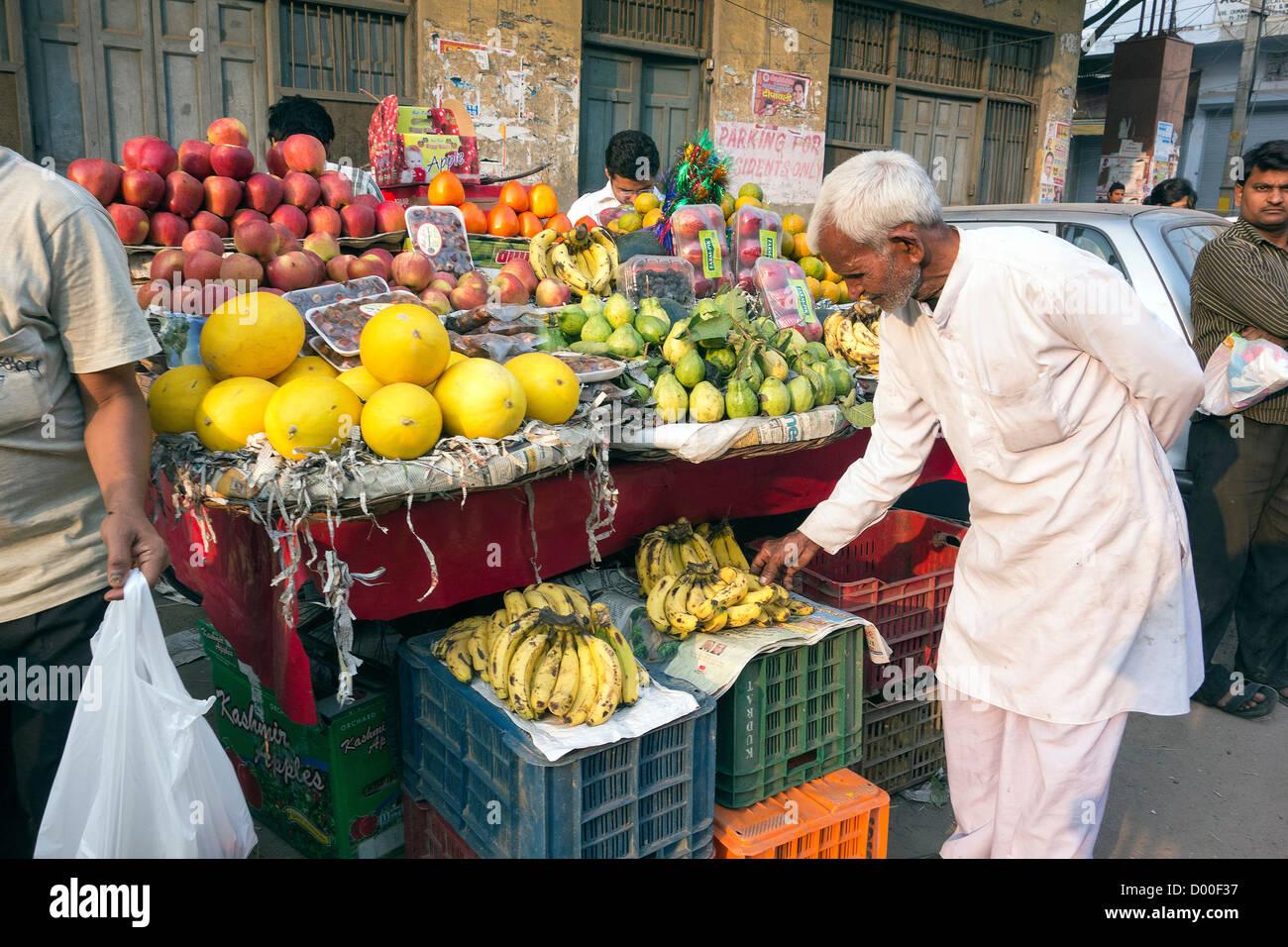 Kamla Nagar Market Old Delhi Business Commercial Hub Center Traffic Vendors Roadside - Stock Image
