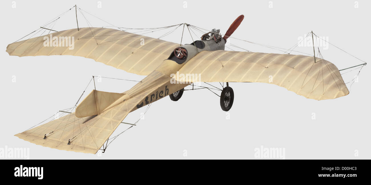An Etrich 'Taube' (Dove), A flying scale model of this famous World War One fighter monoplane, the balsa - Stock Image