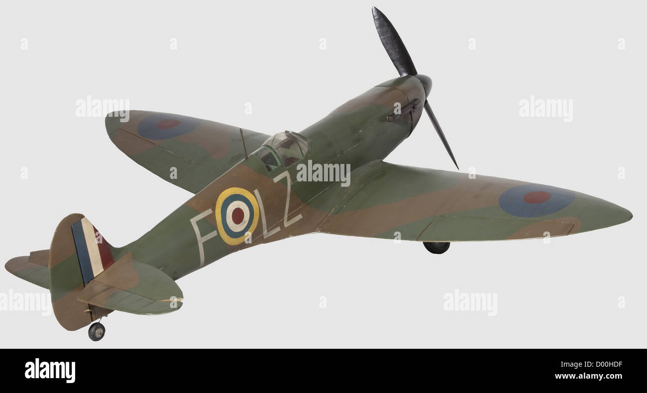 Supermarine Spitfire 'Mk.2', A flying scale model of Battle of Britain period 'Spitfire' LZ - F, - Stock Image
