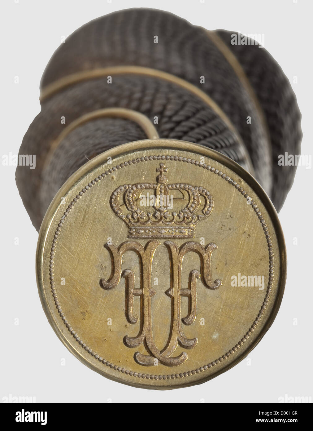 Archduke and Heir Presumptive Franz Ferdinand of Austria-Este (1863 - 1914) - an ivory personal seal and writing - Stock Image
