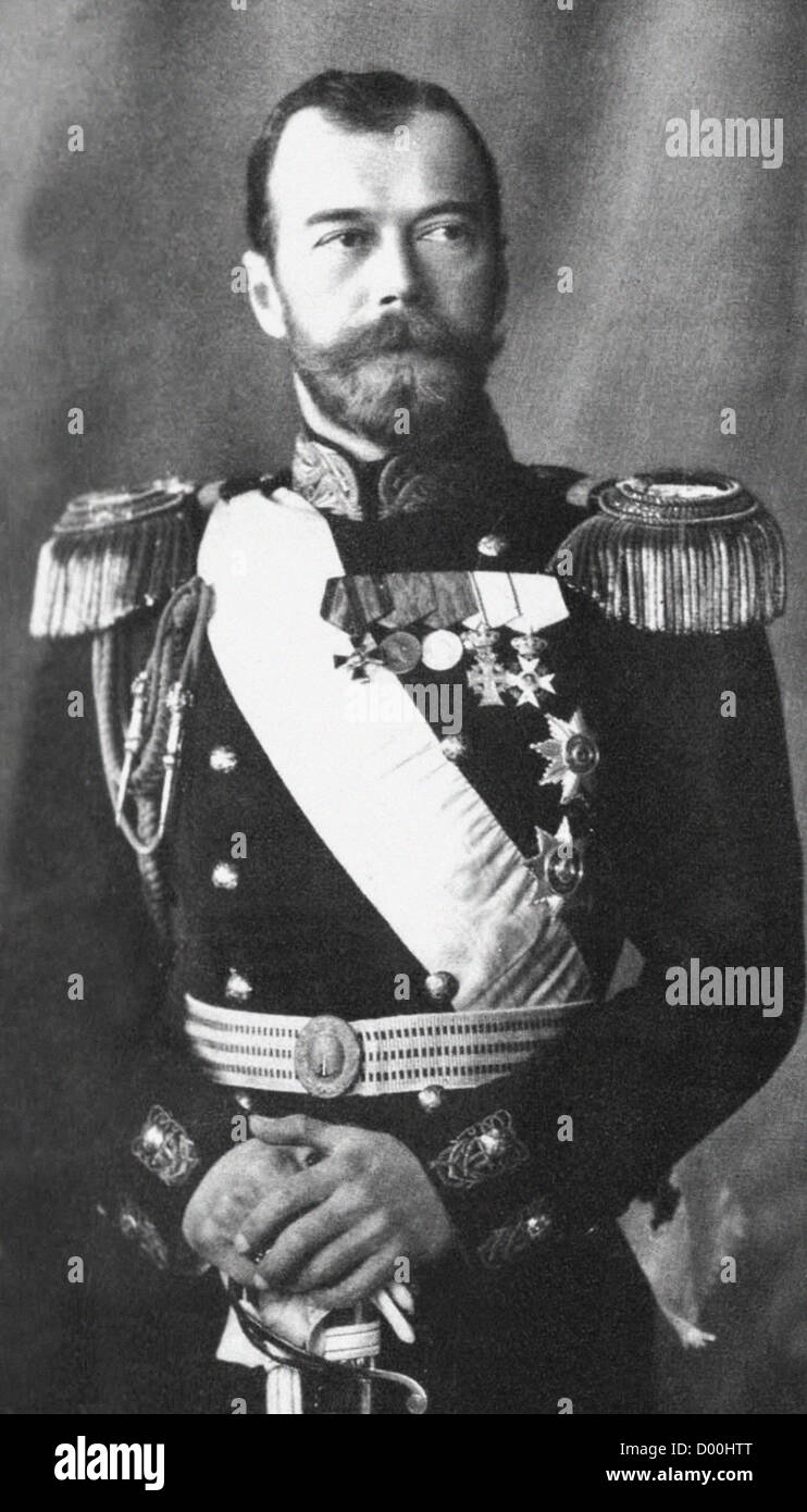 Tsar Nicholas II (1868-1918) - Russia's last emperor - was born on 18 May 1868. From the archives of Press Portrait - Stock Image