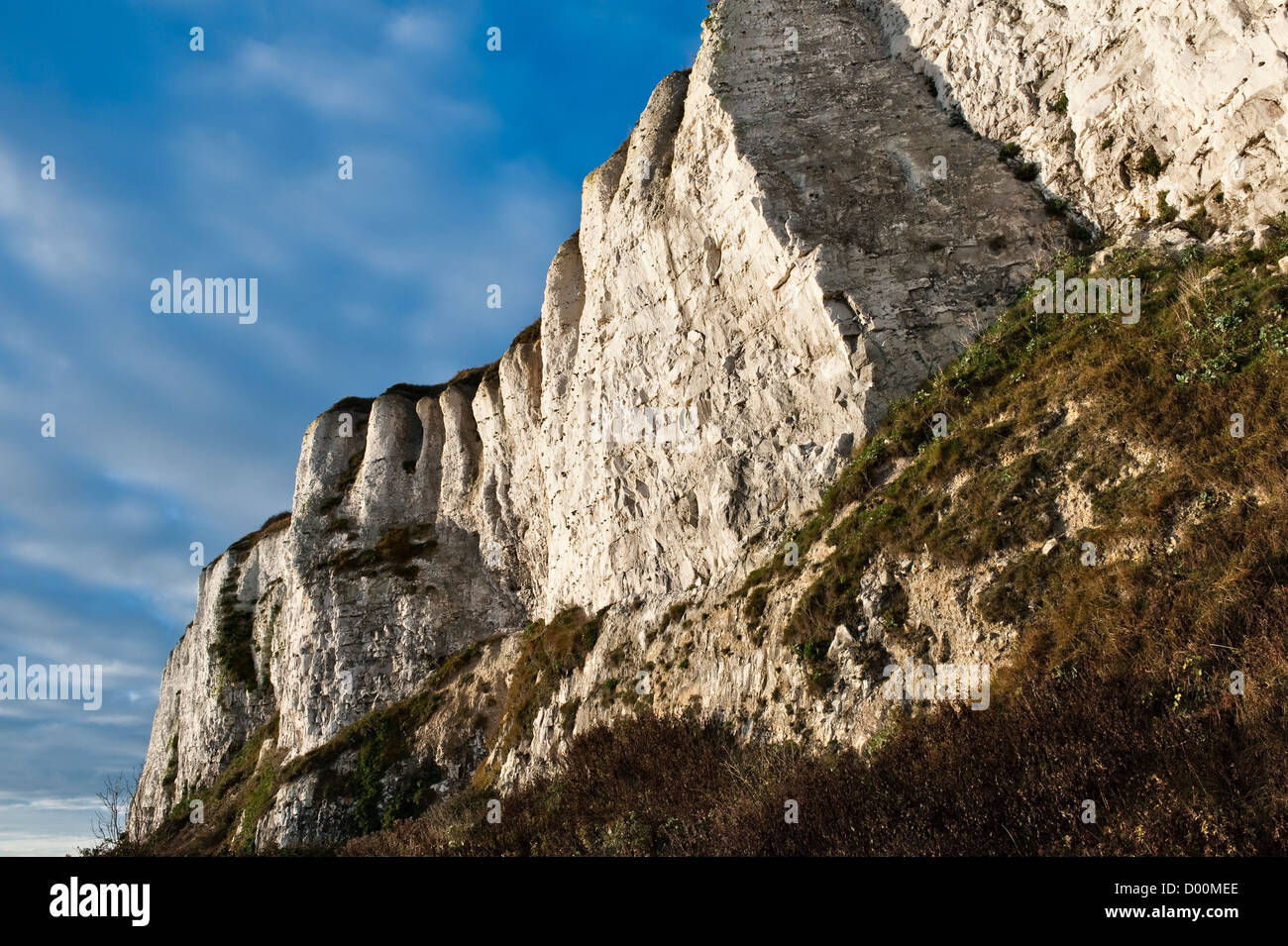 The White Cliffs, between Deal and Dover - Stock Image