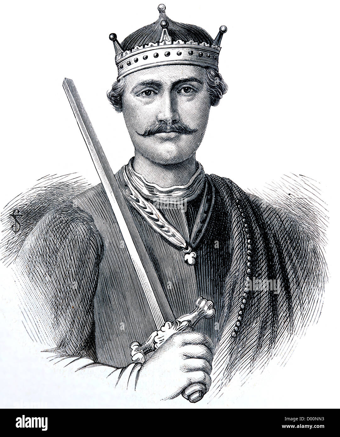 Illustration Of William The Conqueror From The Book Cassell's History Of England Volume 1 - Stock Image