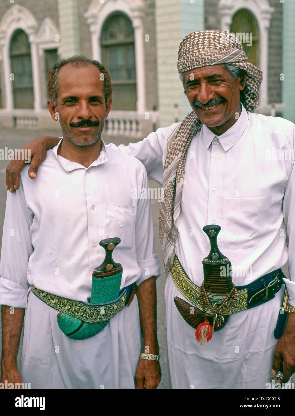 Yemen, Aden, two men, - Stock Image