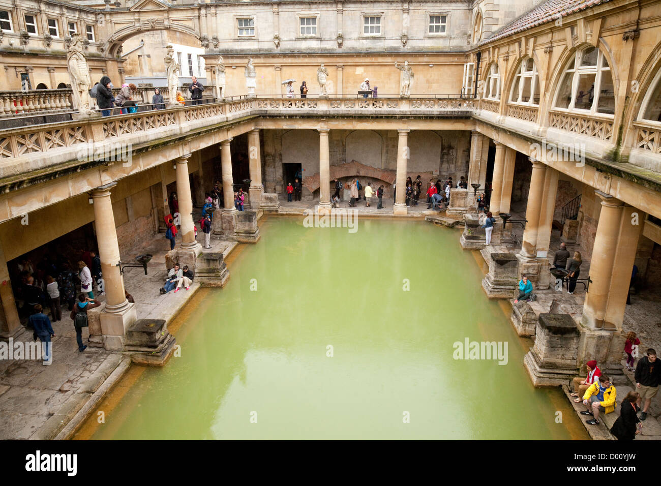 Roman baths, Bath Somerset 4th century UNESCO World heritage site England UK - Stock Image