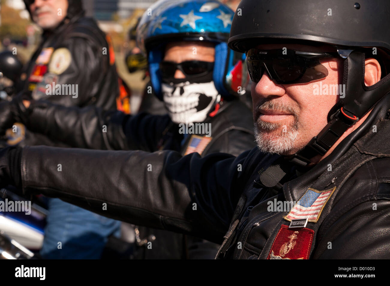 Harley Davidson motorcycle club members - Stock Image