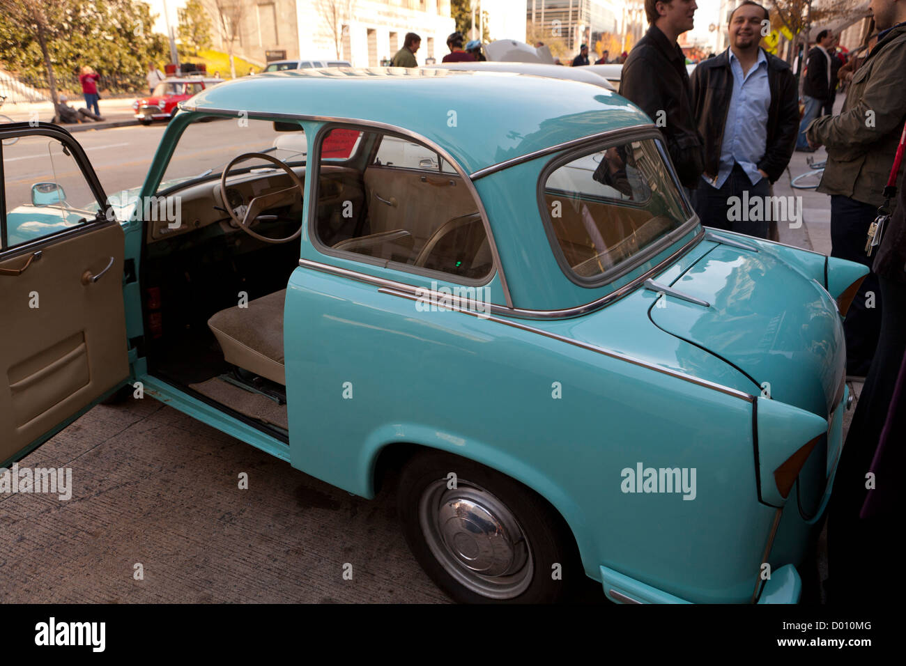 1960's East German two-stroke engine car Trabant profile - Stock Image