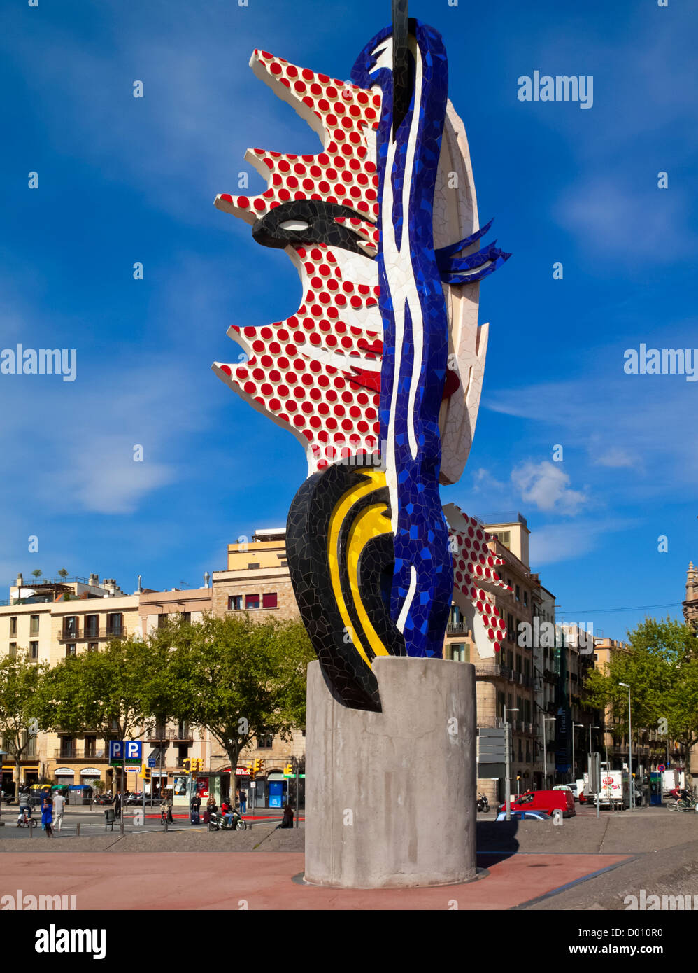 21c3740fd0a Ceramic sculpture El Cap de Barcelona or The Head by Roy Lichtenstein  created for the 1992 summer Olympics held in Barcelona
