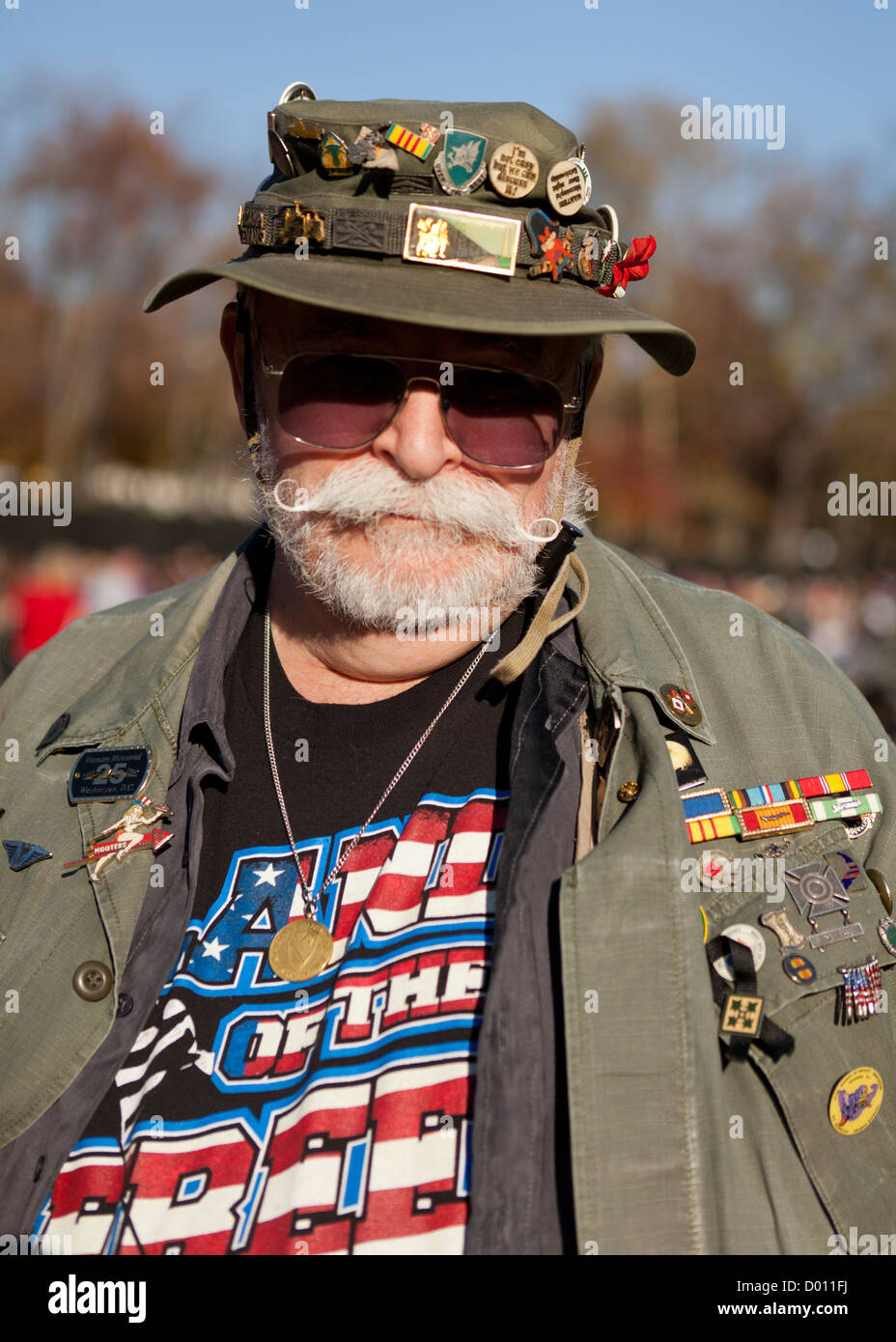 US Vietnam War veteran with medals and honors - Stock Image
