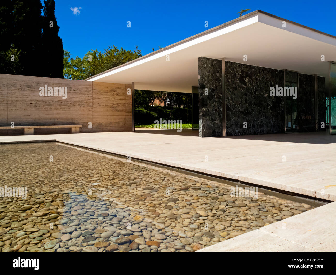 The Modernist Barcelona Pavilion Designed By Ludwig Mies Van Der