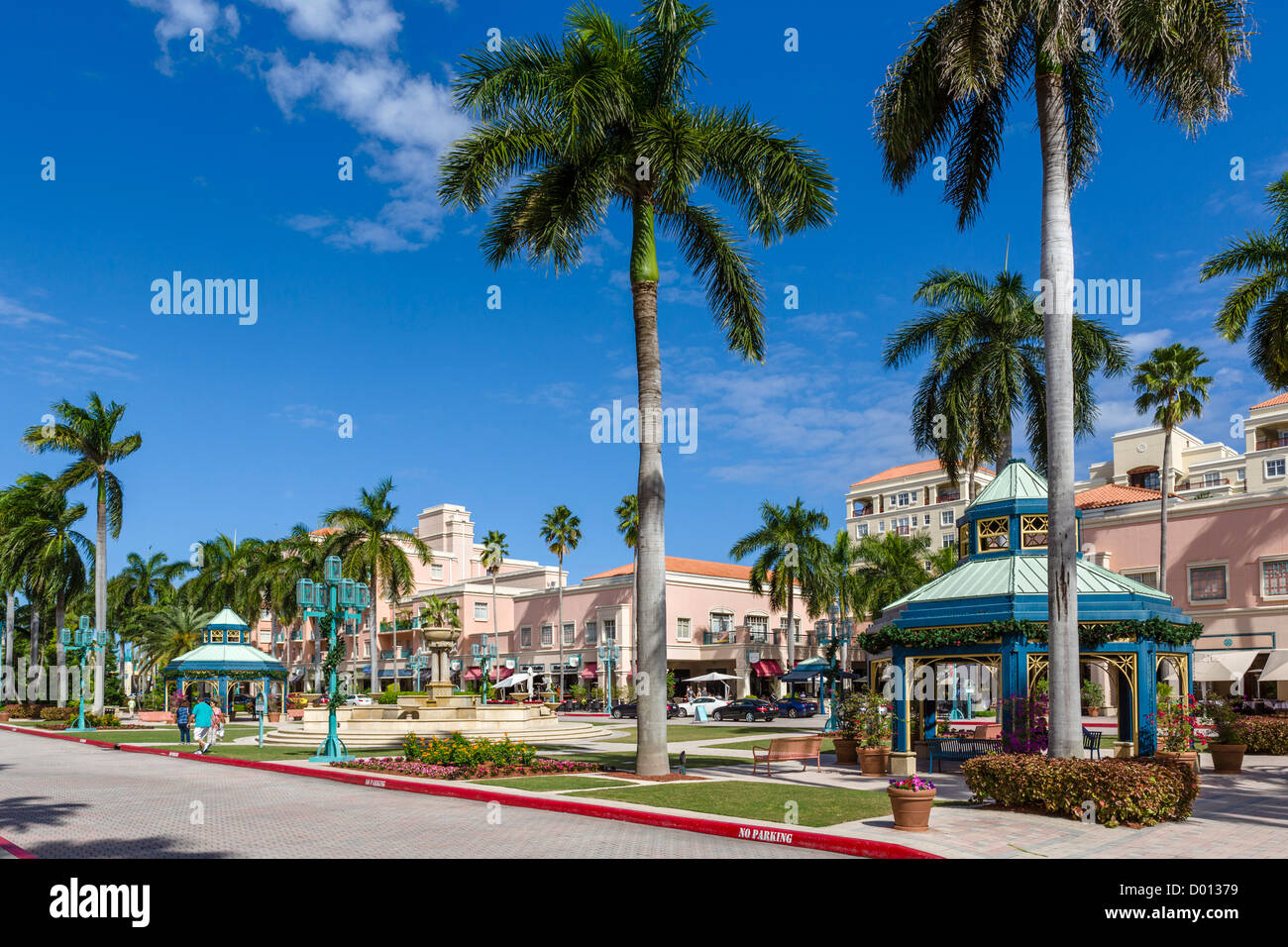 The Mizner Park development in Boca Raton, Treasure Coast, Florida, USA - Stock Image